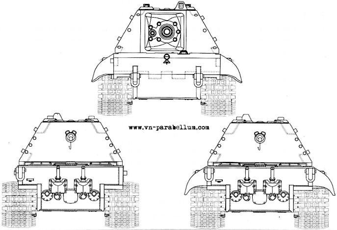 танк Е-100 - Panzerkampfwagen E-100. Немецкие танки серии