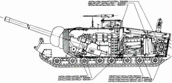 Схема сверхтяжёлого танка Т28